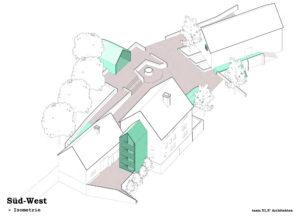 Der Entwurf von Swen Geiß, Büro Team 51,5° Architekten aus Wuppertal, fand den einstimmigen Zuspruch des Rates, wenngleich nun weiter am Konzept gefeilt werden muss. © Team 51,5° Architekten Wuppertal